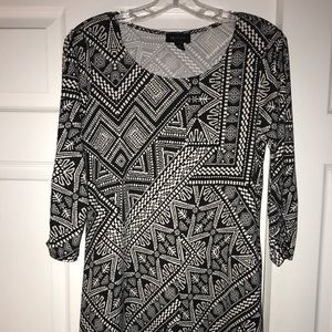 AB Studio patterned dress sz S